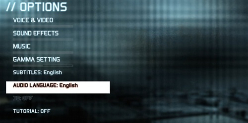 Language and Subtitles options in Ghost Recon: Future