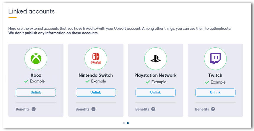 Linked Switch account on Account page