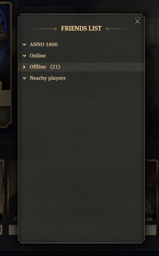 Anno 1800 Multiplayer Lobby Invite Friend