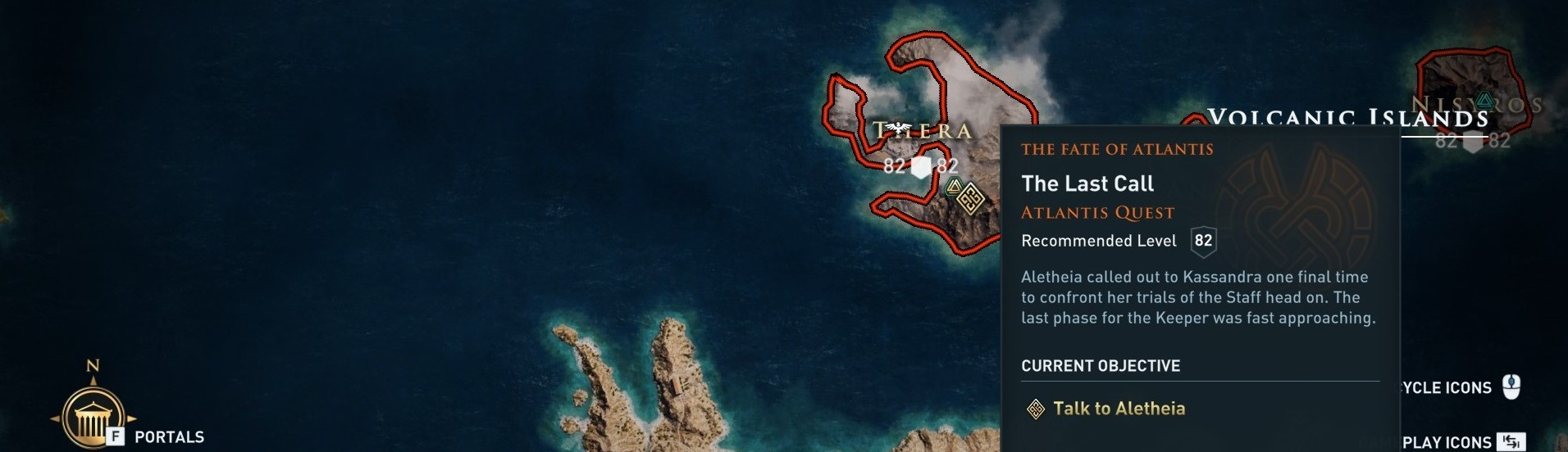 Location of the quest on the in-game world map