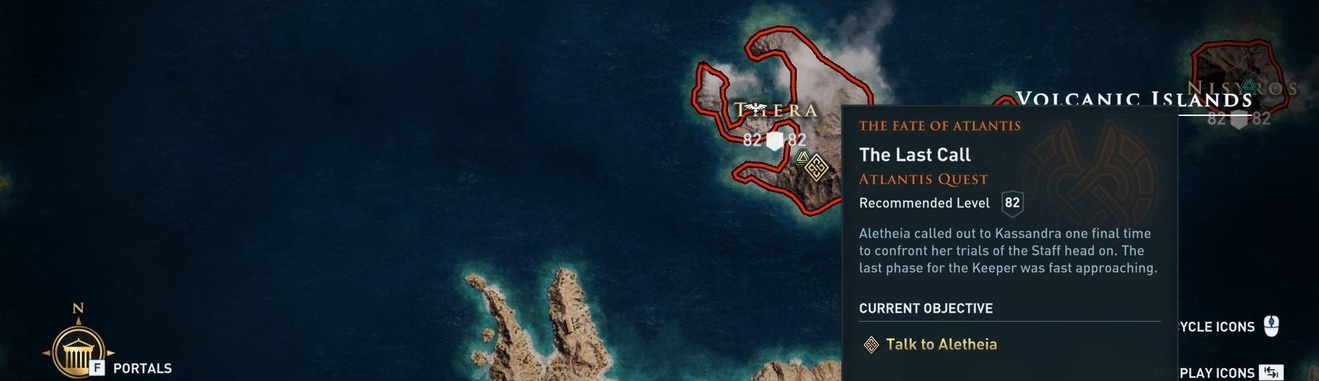 Emplacement de la quête sur la carte du monde en jeu