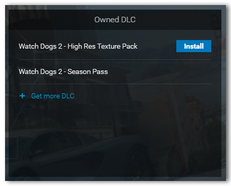 DLC displayed in Uplay PC