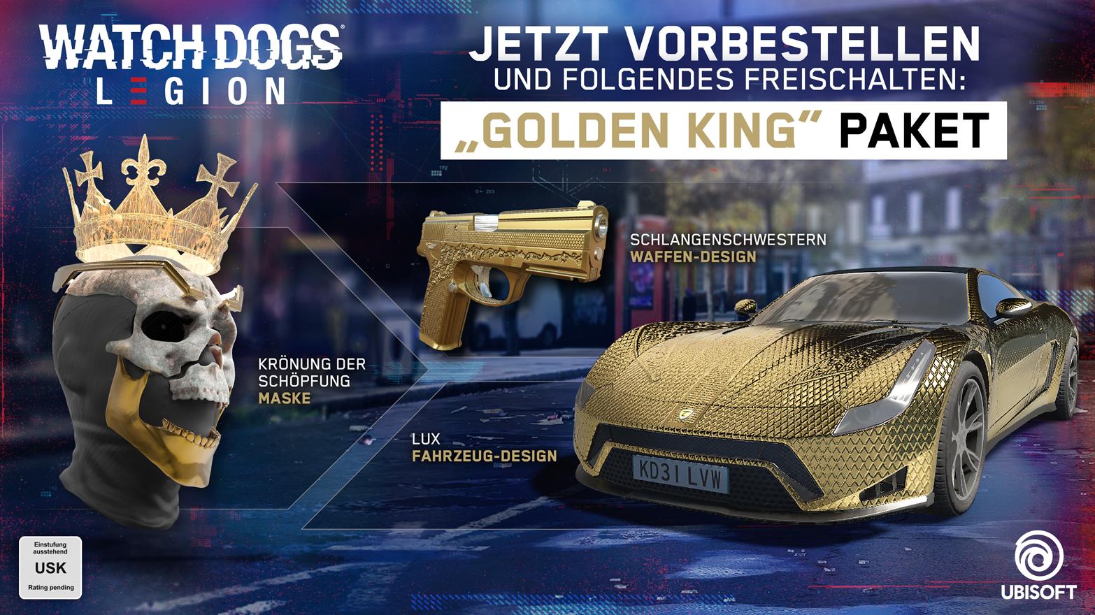 ULC Paket - Kronung der Schopfung Maske, Schlangenschwestern Waffen-design, Lux Fahrzug-design