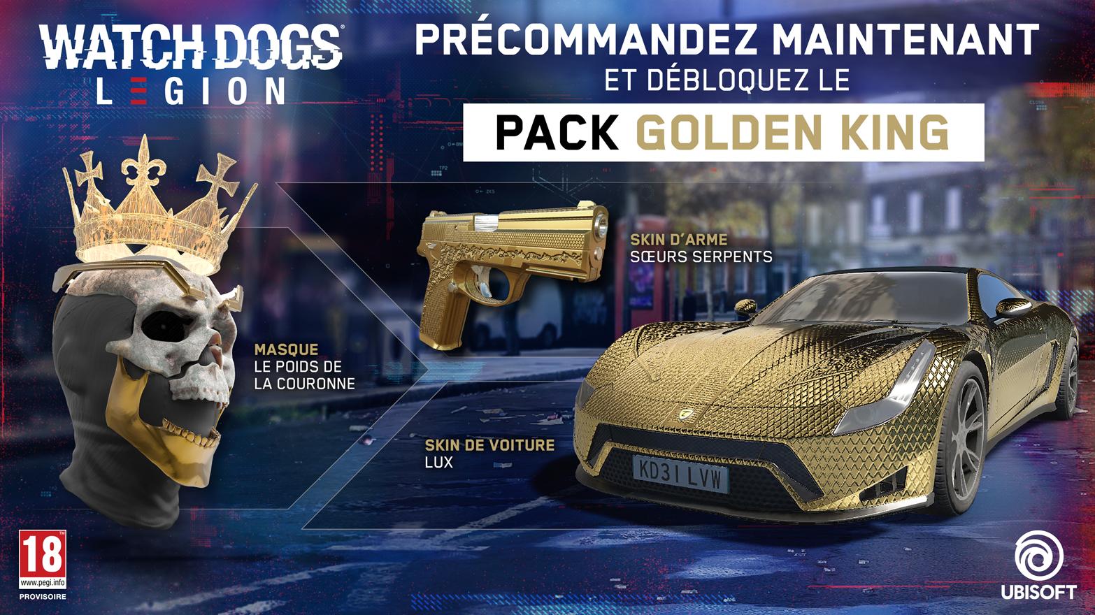 Pack ULC - Masque Le Poids de la Couronne, Skin d'arme Scerus Serpents, Skin de voiture Lux