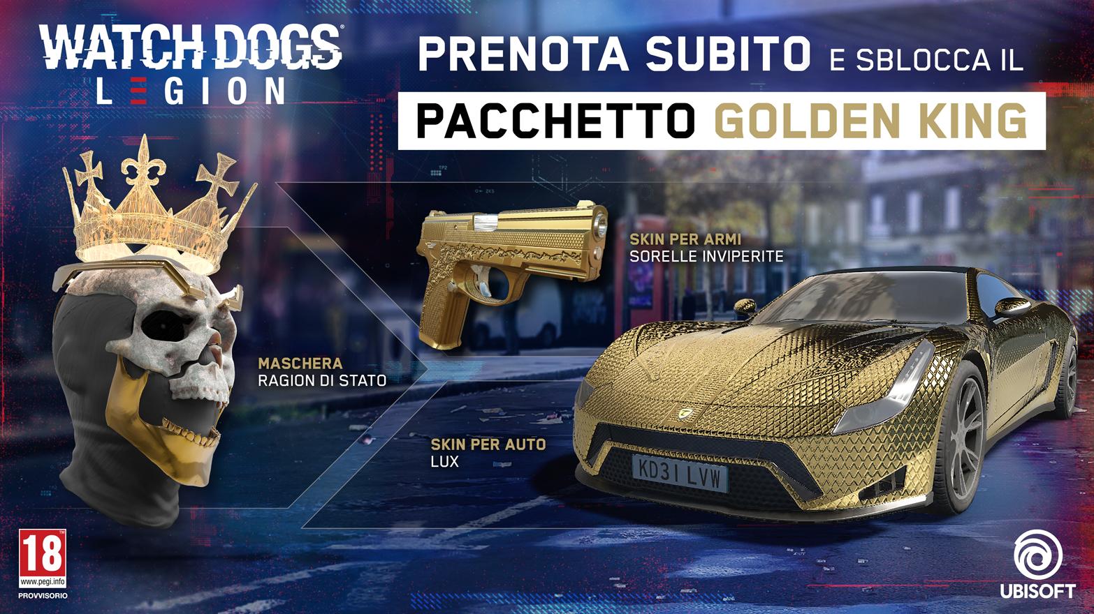 ULC Pacchetto - Maschera Ragion Di Stato, Skin per armi, Sorelle Inviperite, Skin per auto Lux